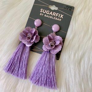 Lilac Tassel Earrings